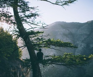 landscape, travel, and mountains image