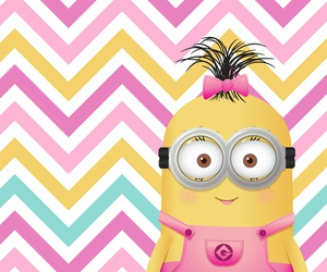 girly, minion, and wallpaper image