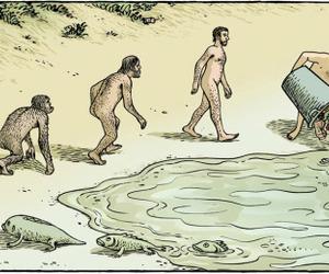 evolution and human image