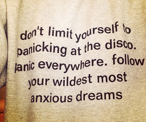 panic, panic! at the disco, and quote image