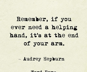 audry hepburn, of, and hand image