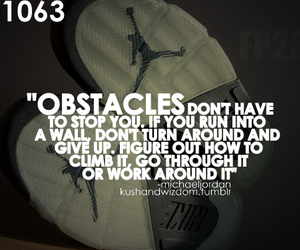 obstacles and quote image