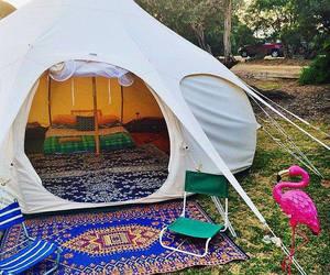 hippie, tent, and bedroom image