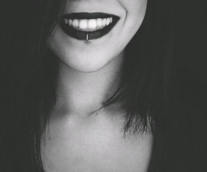 piercing, girl, and smile image