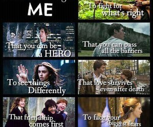 harry potter, the mortal instruments, and divergent image