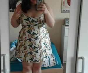 curvy, dress, and swimwear image