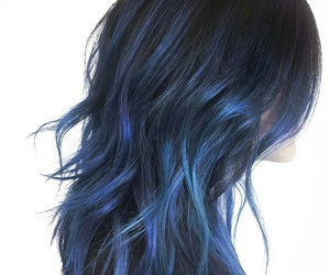 blue hair, hair, and hairstyle image