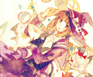 water color, wadanohara, and art image
