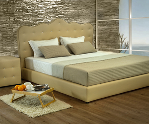 bedroom furniture, leather beds, and luxury beds image