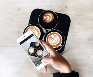 coffee, iphone, and tumblr image