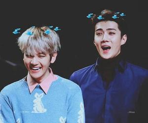 baekhyun, sehun, and exo image