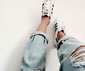 adidas, jeans, and blue jeans image