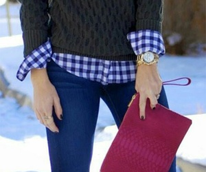 outfit, winter, and boots image