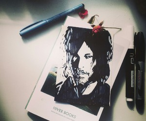drawing, thewalkingdead, and normanreedus image