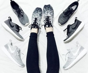 shoes, nike, and black image