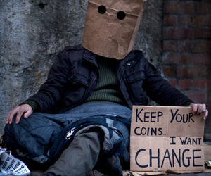 change, black and white, and coins image