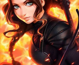 katniss, art, and anime image