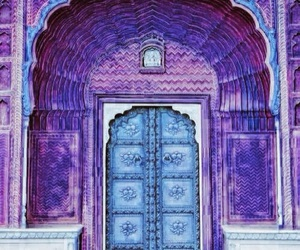 door, purple, and blue image