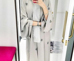 Dubai, modest, and abaya image