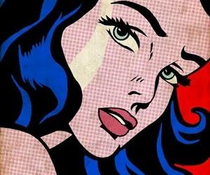 comic, pop art, and wonder woman image
