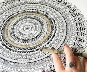 drawing and mandala image