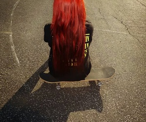 girl, nirvana, and red hair image