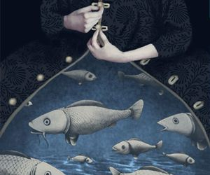 art, fish, and pisces image