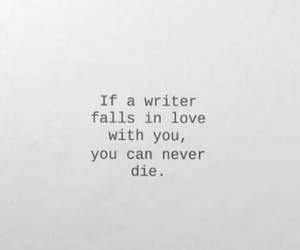love, quotes, and writer image