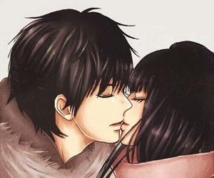 kimi ni todoke, kiss, and anime image