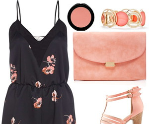 black, coral, and fashion image
