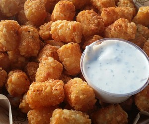 food and tater tots image