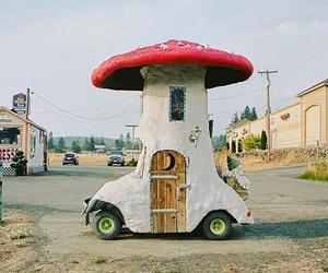 car, fairy tale, and house image