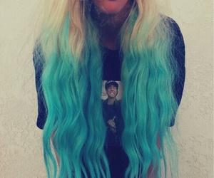 hair, smoke, and blue image
