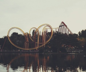 fun, Roller Coaster, and lake image