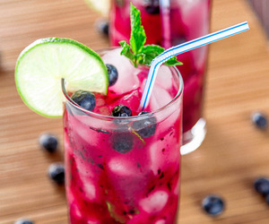 drink and blueberry image