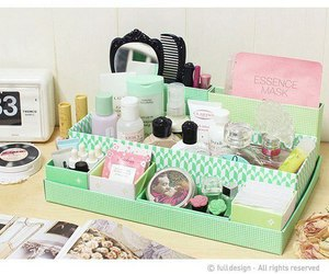 college, cosmetics, and desk image