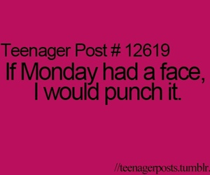 monday, teenager post, and face image