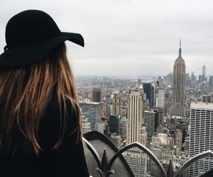 girl, city, and new york image