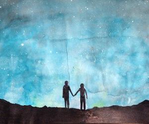 blue, couple, and creative image