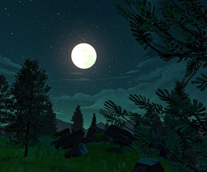 forest, game, and moon image