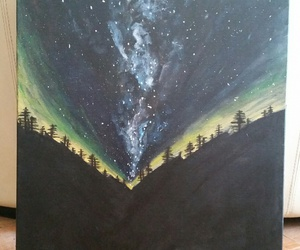 acrylic, painting, and galaxy image