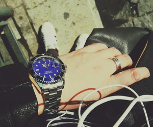 adidas, blue, and rolex image