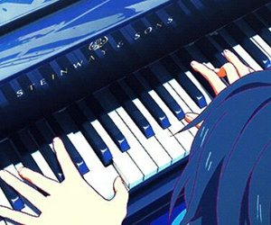 angel, anime, and piano image