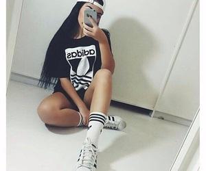 adidas, girl, and style image