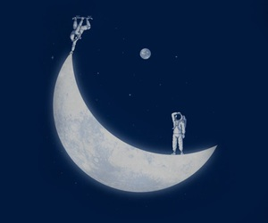 moon, skate, and space image