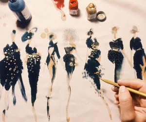 art, fashion, and paper fashion image