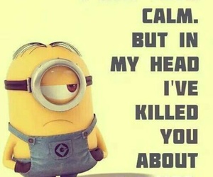 minions, funny, and calm image