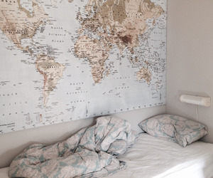 bedroom, home, and travel image
