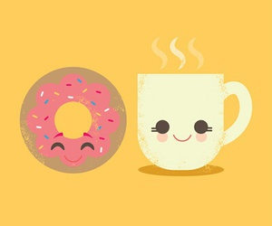 donuts, coffee, and food image