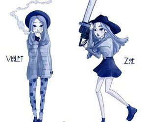 ahs, violet, and zoe image